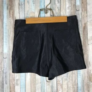 American Apparel L Black Mini The Disco Shorts